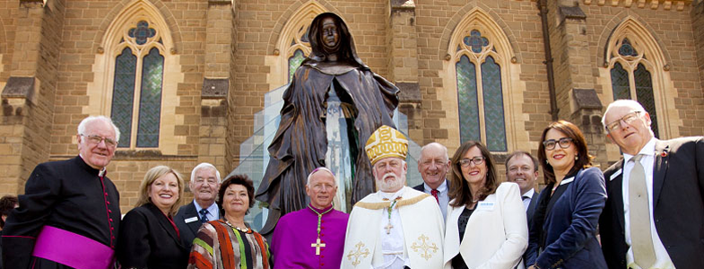 The MacKillop statue was unveiled and blesses on the 1th of October, 2014
